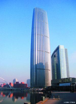 它的钢结构体系类型处于世界领先水平