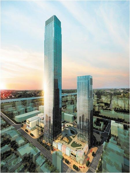 湖南第一高楼长沙国金中心7月主体开建-图片新闻