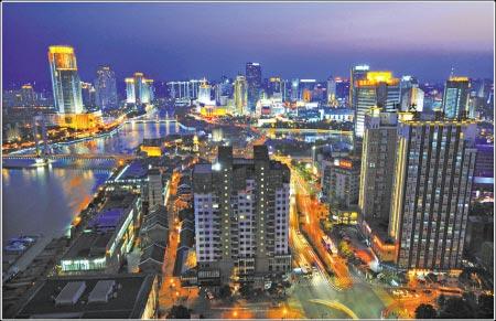 宁波三江六岸夜景