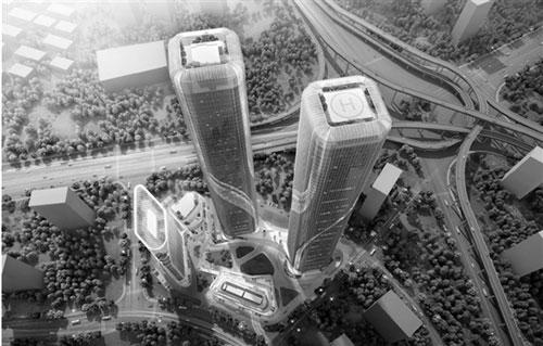 杭州将建280米高的双子塔写字楼