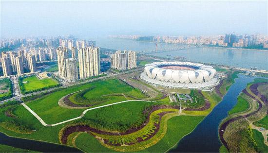 杭州奥体博览城盛装迎峰会