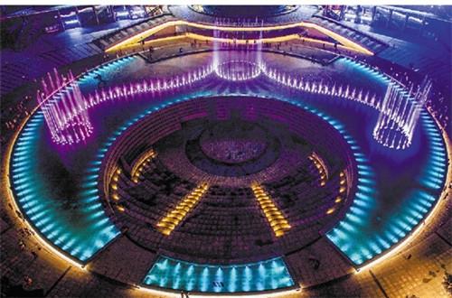 璀璨亮丽的杭州钱江新城夜景