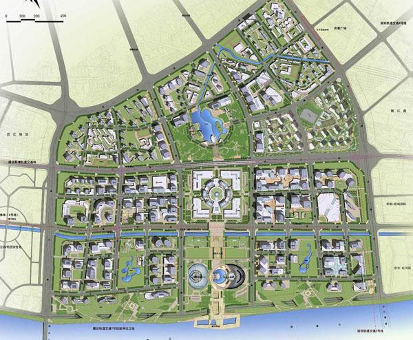 钱江新城区域位置规划图