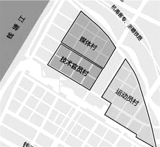 选址钱江世纪城的杭州亚运村年内将开工