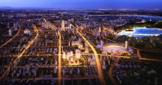 黄龙商务区鸟瞰图,图片来源于网络