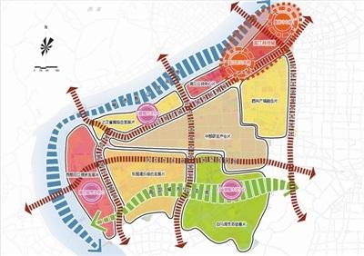 《杭州高新区(滨江)分区规划(2017-2020年)》公示 一主三次两带五轴七片区