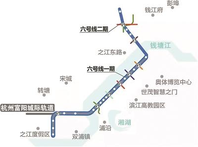 杭州地铁6号线25个站点正式确定 二期增添一个亚运村站