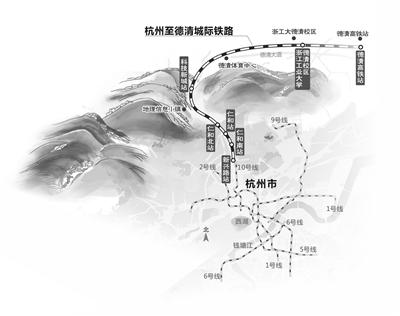 杭德城际铁路签约 将于2022年亚运会前建成通车