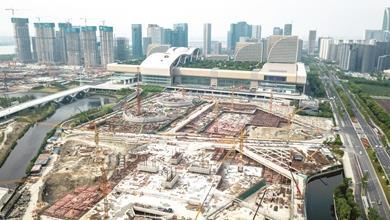 杭城新地标――杭州之门进入主体施工