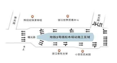 杭州地铁3号线松木场站开始主体结构施工