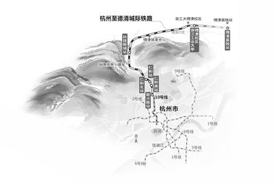 杭德城际铁路启动国际招标 建成后可以从德清坐地铁来杭州看亚运