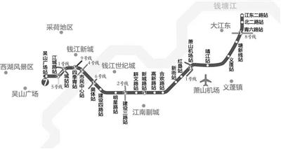 杭州地铁7号线建设再加速 14座车站主体结构已完工