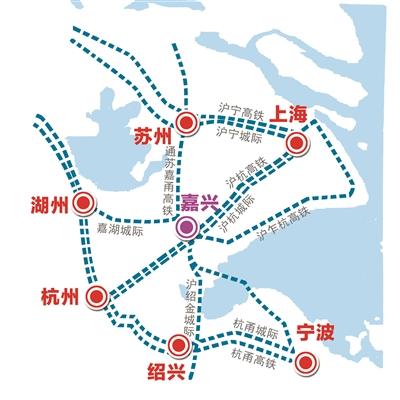 嘉兴打造长三角核心区枢纽型中心城市